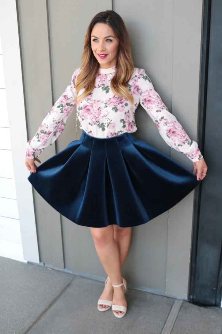 Blue Velvet Skirt LC u2013 Suite Hairstyles